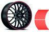 Decalcomanie per adesivi a strisce per auto o moto *6mm* Rosso Red