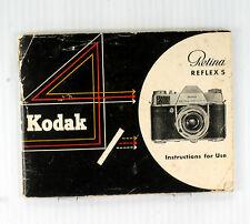Kodak Retina Reflex S Original Instruction Book - 44 pages