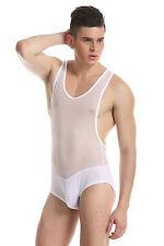 Body débardeur blanc taille L transparence sheer plum sexy Ref 328 combinaison