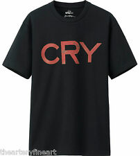 JACK PIERSON x UNIQLO 'CRY' SPRZ NY Art Word Sculpture T-Shirt MEDIUM Black NEW
