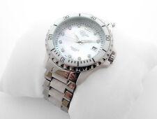 Damen KERAMIK-Armbanduhr Weiß mit Stahl EDEL * ZEITLOS