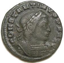 Constantine I The Great AE Follis, Lyons Mint . 313-314 AD.  SOLI INVICTO COMITI
