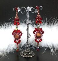Strass Ohrringe - Rot/Crystal AB - 1A-Qualität aus Böhmen - sc180
