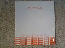 1982 Porsche Full Line 911 924 & 928 DELUXE Showroom Sales Brochure Awesome L@@K