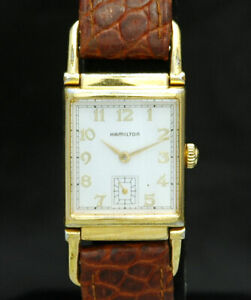 HAMILTON Wilshire Reissue REGISTERED EDITION 6174A Driver Lug GOLD WATCH HTF VTG