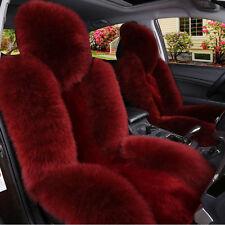 1PC Car Genuine Australian Sheepskin Front Seat Cover Long Wool Fur Multi-Color