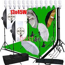 2925W Photo Studio Backdrop Softbox Umbrella Lighting Kit Background Stand Set