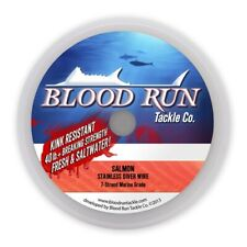 BLOOD RUN TACKLE 7 STRAND STAINLESS TROLLING WIRE 30# 1000' SPOOL