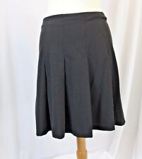 Womens Classic Tracy Evans size 7 Black Partially Pleated Knee Length Skirt