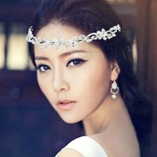 Bridal Rhinestone crystal crown hair forehead band Headpiece HR346