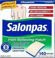 SALONPAS Pain Relieving Patches, Arthritis, Back Pain Relief, 140 Patches