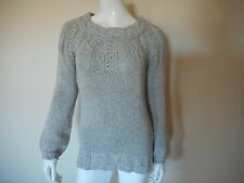 Old Navy Grey Boat Neck Sweater Chunky Cable Knit Size XS