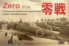 Rising Decals 1/72 MITSUBISHI A6M ZERO Japanese Carrier Fighter Part 4
