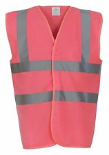Yoko Hi Vis Vest 24 COLOURS Visibility Work Wear Waistcoat Jacket (HVW100)
