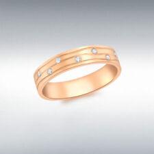 Engagement Excellent Cut Rose Gold Fine Diamond Rings