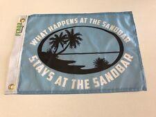 "Boat flag 12""X18""  What Happens At The Sandbar Stays At The Sandbar custom flags"