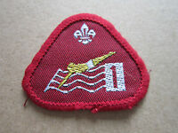 Swimmer Stage 1 Proficiency Woven Cloth Patch Badge Boy Scouts Scouting