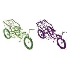 Maison de Poupées Rouge Vélo Enfant Tricycle Miniature 1:12 Pouponnière Magasin