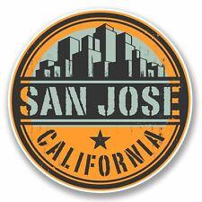 2 x San Jose California Sticker Decal Laptop Car Travel Luggage Label Tag #9820