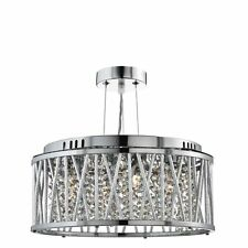 Searchlight 8333-3CC Elise 3 Light Ceiling Flush/Pendant Chrome Crystal Light