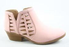 New Women's Spring Low Heel Western Zipper Ankle Booties Shoes Size 5.5 - 11
