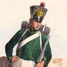 Gravure XIXe Pupille Napoléon Bonaparte Empire Garde Impériale Premier Empire