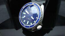 Vintage Seiko divers 7002 Auto MEGA MOD BB BLUE SAPPHIRE CRYSTAL K71