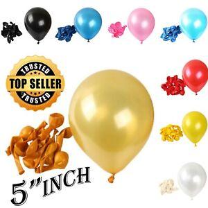 """5""""Inch pearl metallic Balloons 10-100 baloon Birthday anniversary baby shower uk"""