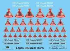 [FFSMC Productions] 1/18 Decals Logos HB Team Audi (with metallic gold)