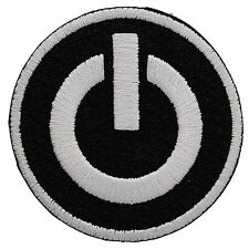 POWER BUTTON EMBROIDERED PATCH