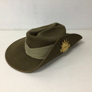 Australian Army Uniform Slouch Hat With Rising Sun Badge April 2005 #129