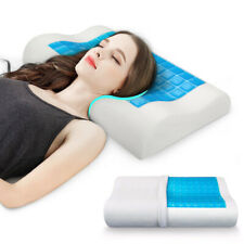 NEW Reversible Neck Support Gel Pilllow Orthopedic Memory Foam With Pillow Case