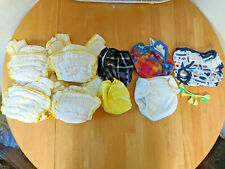 8 Small Organic Cloth-Eez Workhorse Cloth Diapers, 5 Diaper Covers, 3 Snappies