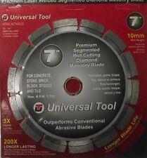 "Universal Uta92230 Premium 7"" Diamond Segmented Saw Blade 10mm Rim"