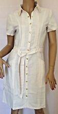 Kaleidoscope~ Cream Shirt Dress With Studded Collar  ~ Size 12 ~ rrp £65~(R3)