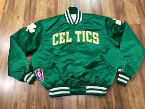 MENS XL - Vtg 80s NBA Boston Celtics Starter Sewn Quilted Lined Snap Jacket USA