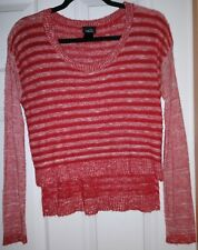 Rue21 Red Crop Top Sweater Large