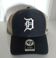 Detroit Tigers Hat '47 MVP Vintage Navy Mesh Trucker Style Snapback Cap