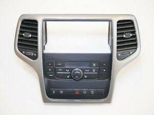 2011-2013 Jeep Grand Cherokee Climate Control Bezel Trim Vents Buttons A/C 11-13