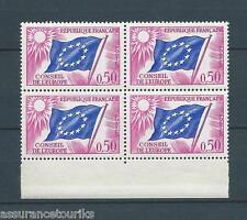 FRANCE SERVICE - 1963-71 YT 32 bloc de 4 - TIMBRES NEUFS** LUXE - 001