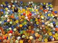 4 Old Glass Marbles, Estate Found Fresh