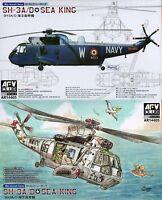 AFV Club 1/144 AR14405 SH-3A/D Sea King (One Set of 2 SH-3A/D)
