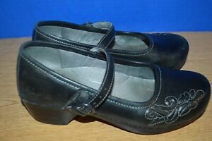 WOMENS DANSKO BLACK LEATHER MARY  JANE SHOES  SIZE 39 MED EXCELLENT