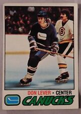 1977 Topps Don Lever Vancouver Canucks #111 Hockey Card ex