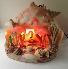 VINTAGE MID-CENTURY SEA SHELL FLAMINGO TV LAMP NIGHT LIGHT