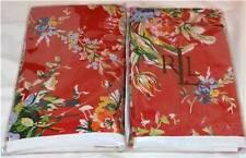 Ralph Lauren BELLE HARBOR Red Floral Euro Pillow Shams NWT Cotton