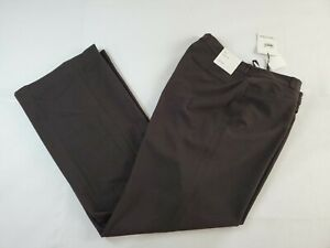 NWT Calvin Klein Women's Brown Modern Fit Career Pants Size 12 Lined