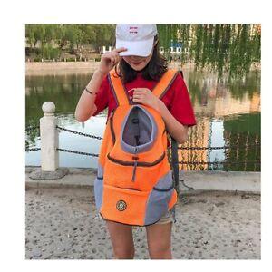 New Shoulder Backpack Pet Dog Carrier Bag Pet Dog Front Bag Mesh Backpack Head