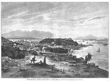 Rio de Janeiro, Brasilien, Original-Holzstich von 1885