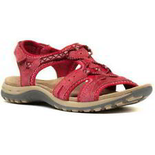 Earth Spirit Fairmont Womens Ladies Red Leather Walking Sandals Size 4-9